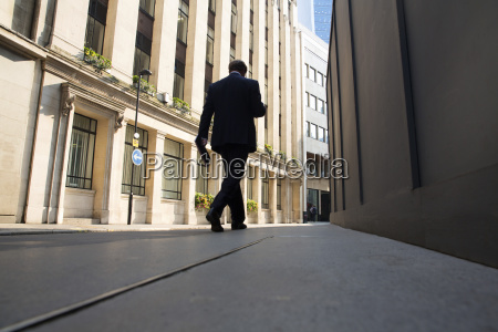 low angle rear view of man