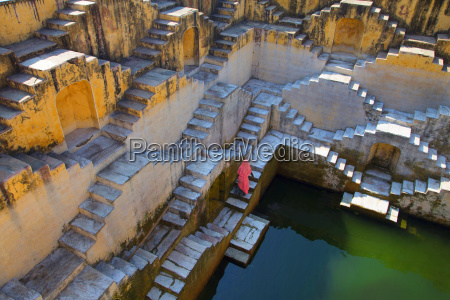 high angle view of woman wearing