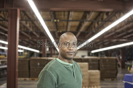 working portrait of an african american