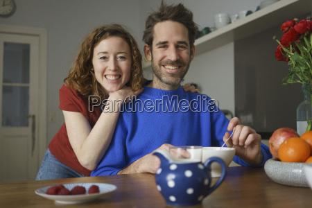 portrait of smiling mid adult couple