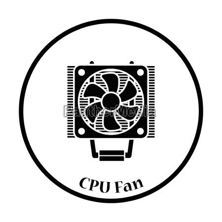 cpu fan symbol vektor illustration