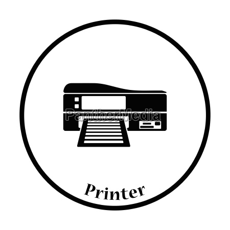 printer icon vector illustration