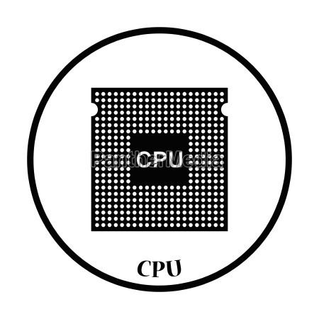 cpu icon vector illustration