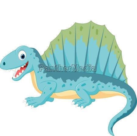 kariktoon lustiger dinosaurier