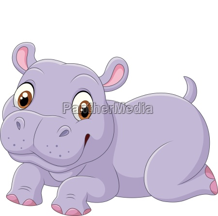 niedlicher hippo cartoon