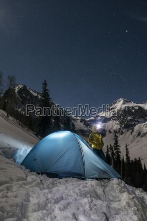 woman camping in mountains silverton colorado