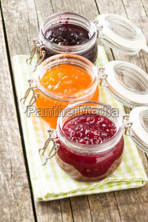 fruity jam jelly in jar