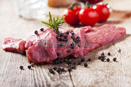 meat raw veal steak meat beef