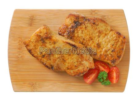 roasted pork meat