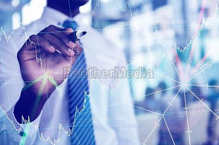 zusammengesetztes bild von aktien und anteilen