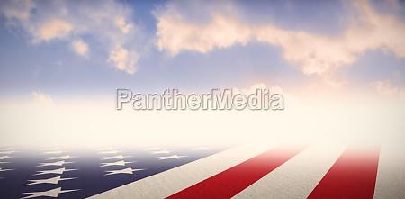 zusammengesetztes bild von usa staatsflagge