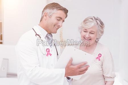 zusammengesetztes bild des brustkrebsbewusstseins bandes