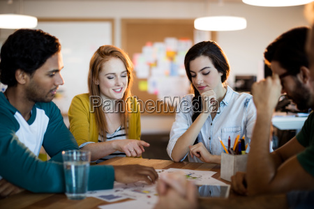 creative business team discussing in a