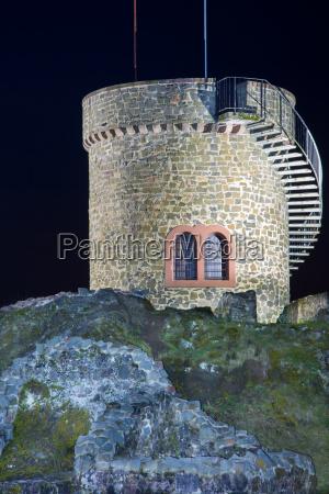liebenburg in nambornsaarland in der nacht