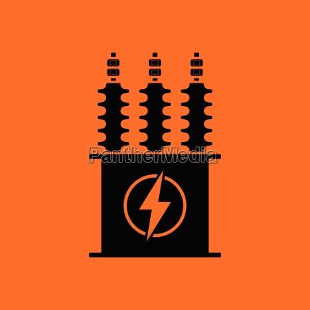 elektrische transformatorensymbol
