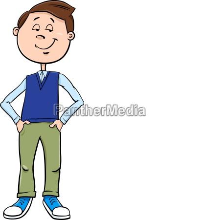 kid or teen boy character cartoon