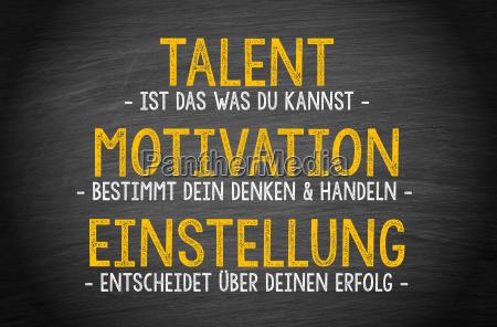 talent motivation einstellung erfolg