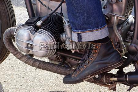 motorrad mit motorradfahrer