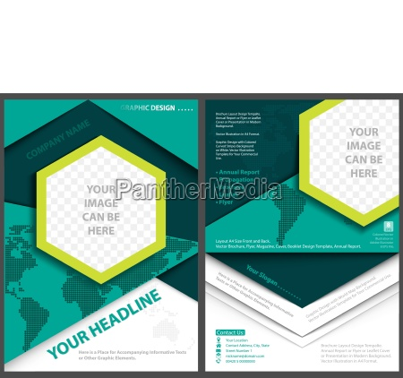 flyer template with world map background