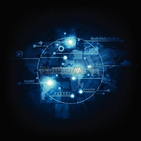 vektorhintergrund kommunikationstechnologie ist weltweit verfuegbar