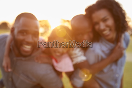 portrait of young black couple with