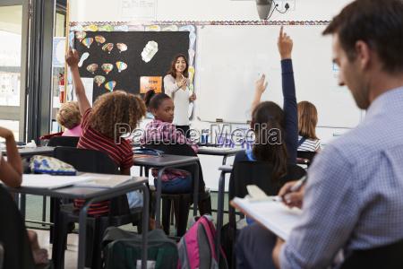 anwaerterlehrerin die lernt wie man grundschueler
