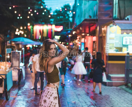 thailand bangkok young woman in the