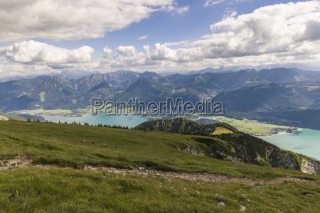 austria salzkammergut alps view from mountain