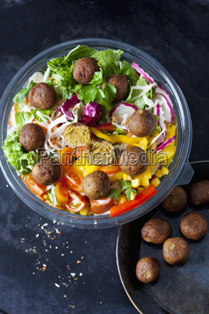 bowl of mixed salad with vegetable