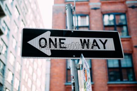 usa new york city one way