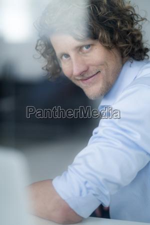 portrait of a businessman looking