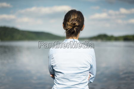 rear view of woman at a