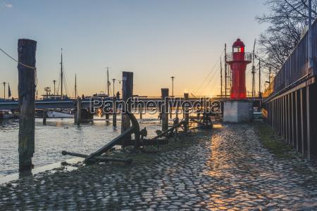 germany hamburg neumuehlen museum harbour OEvelgoenne