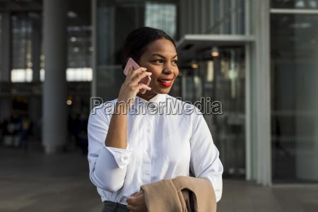 uk london portrait of smiling businesswoman