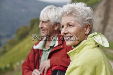 portrait of happy senior woman with