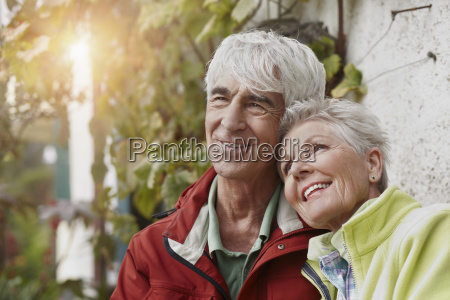 portrait of smiling senior couple at