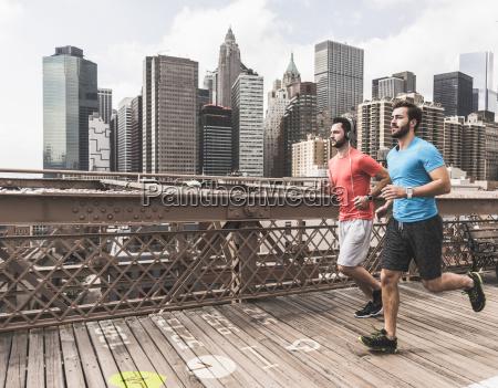 usa new york city two men