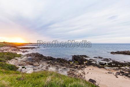 scotland fife kingsbarns beach at sunset