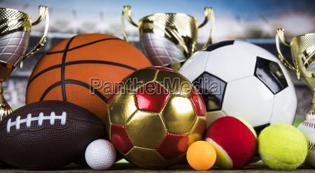 achievement, trophy, sport-hintergrund, zu, gewinnen - 25131152