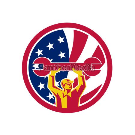 american mechanic usa jack flag icon