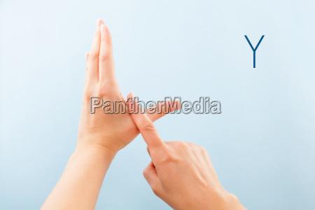 bsl fingerspelling alphabet y