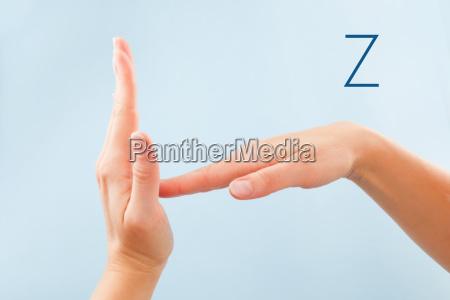 bsl fingerspelling alphabet z
