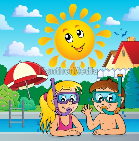children snorkel divers theme 3