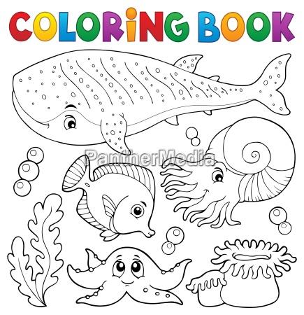 coloring book ocean life theme 1