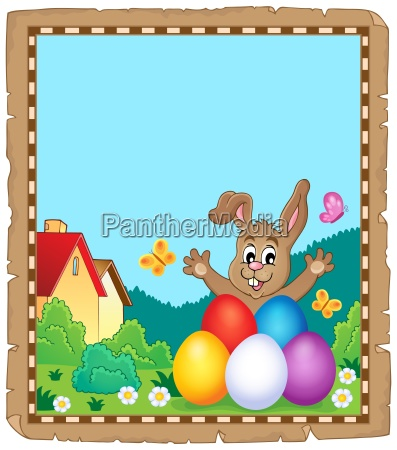 parchment with easter bunny topic 8