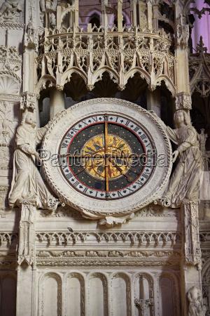 16th century flamboyant gothic astrological clock