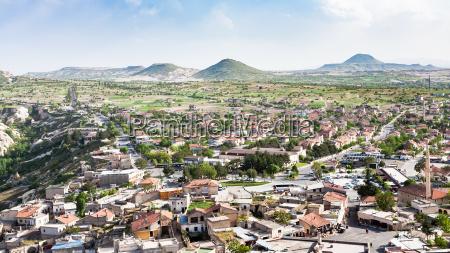 panoramablick auf das dorf uchisar in