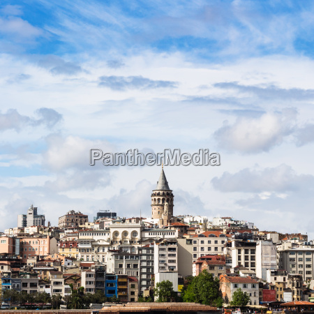 view of galata district in istanbul