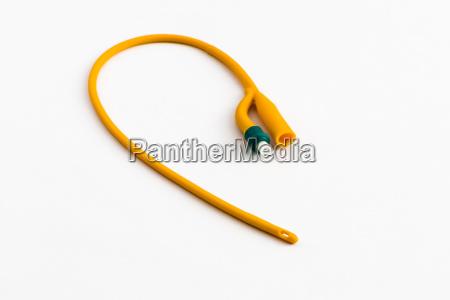 an orange balloon catheter for medical