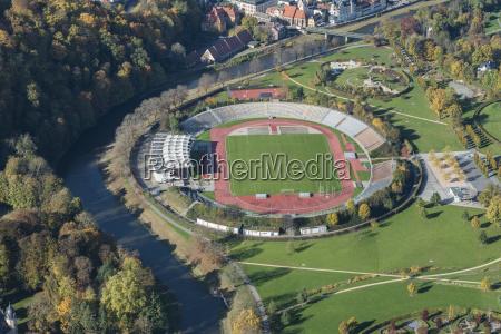 stadion der freundschaft im staedtischen hofwiesenpark